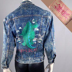 M Vintage 80s LEVIS Acid Wash Trucker Jean Jacket